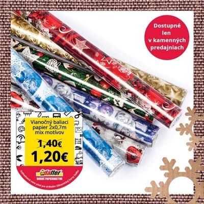 Baliaci papier Vianoce