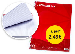 Špirálový blok College A4