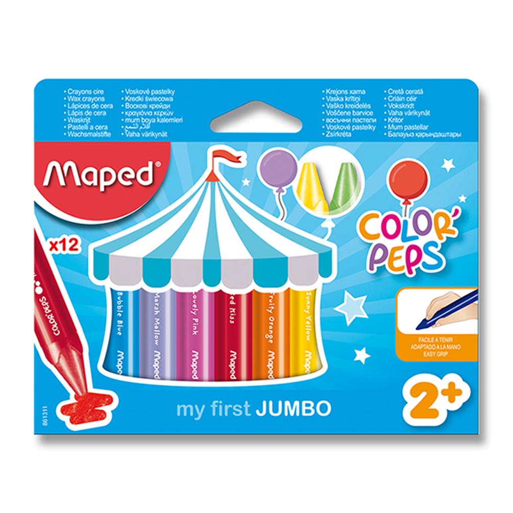Voskovky trojhranné Maped Color´Peps JUMBO, 12ks