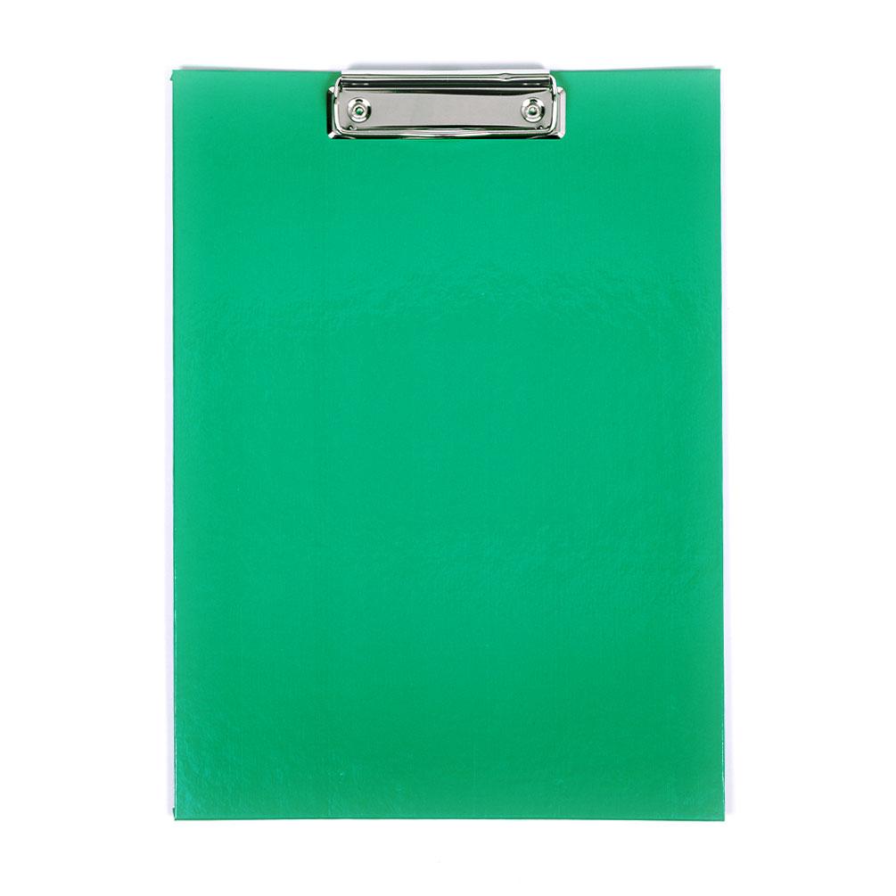 Doska s klipom A4 laminovaná, zelená