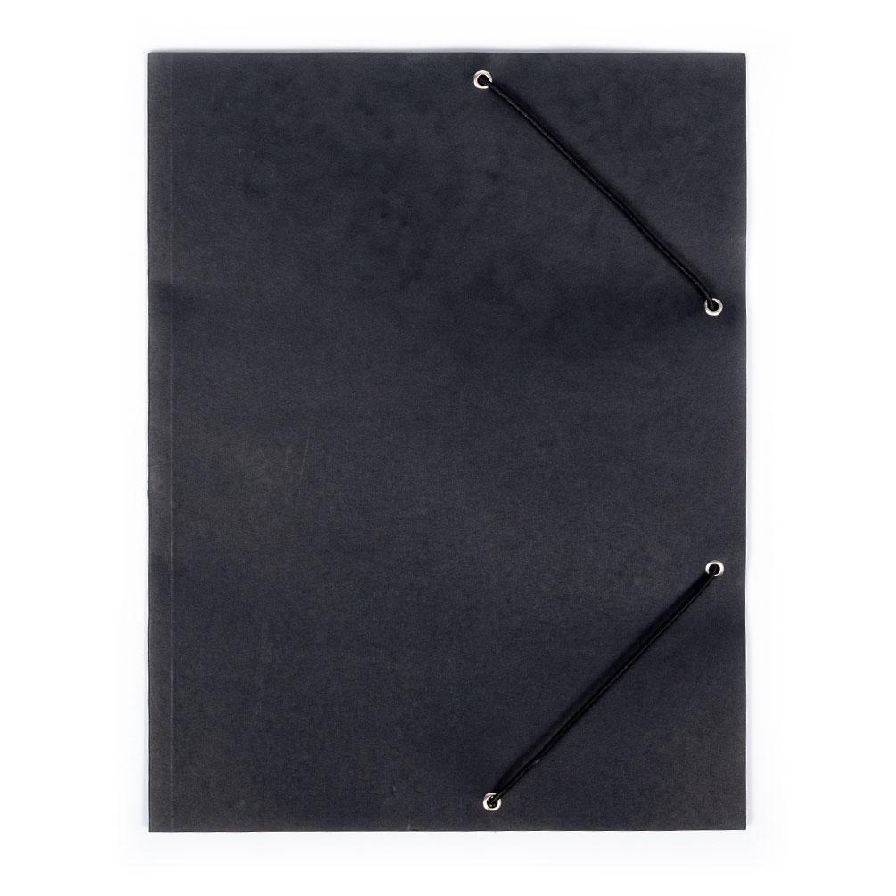 Odkladacia mapa s gumičkou Prešpán, čierna